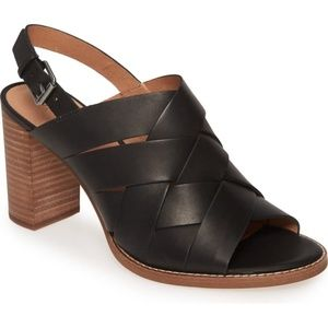 Madewell The Cindy Sandals in Black Leather